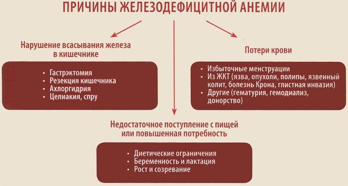 Анемия при заболеваниях желудочно-кишечного тракта