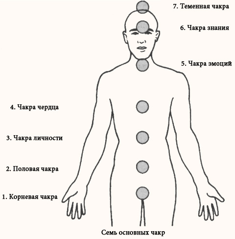 Семь основных чакр