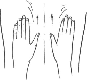 Массаж. Сегментарное поглаживание руками