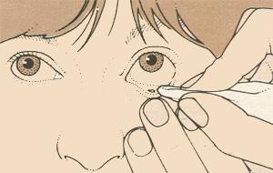 Попадание в глаз инородного тела