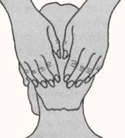 Положение рук на затылке