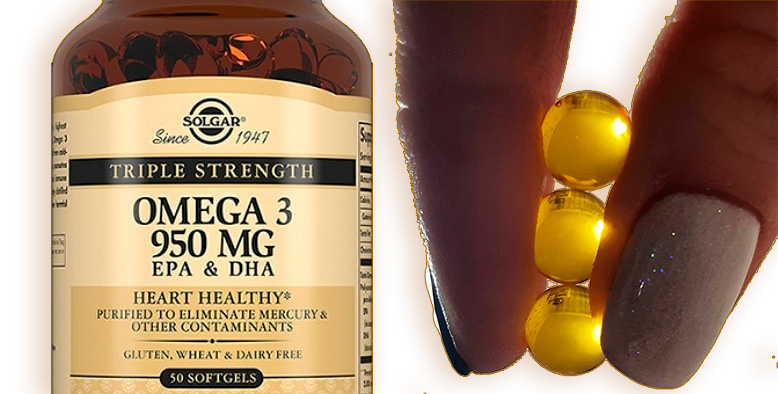Купить SOLGAR Omega-3 EPA & DHA «Triple Strength», 950 mg