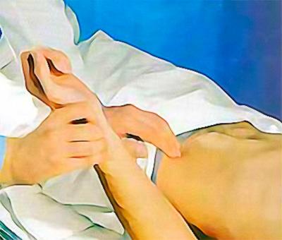 Пальпация лучевой и бедренной артерий