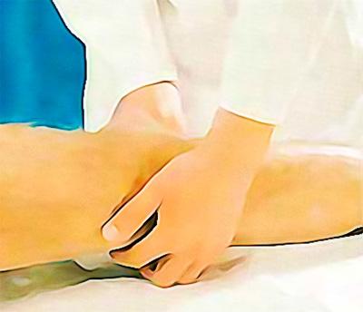 Пальпация подколенной артерии