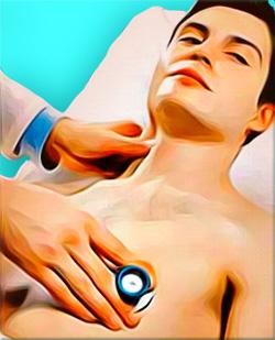 Аускультация сердца и пальпация сонной артерии