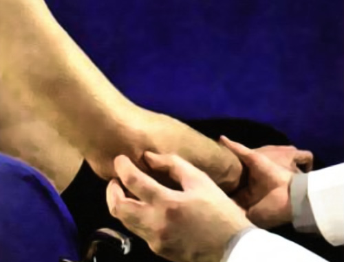 Пальпация локтевого сустава